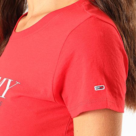 Tommy Hilfiger Jeans - Tee Shirt Femme Essential Slim Logo 7524 Rouge