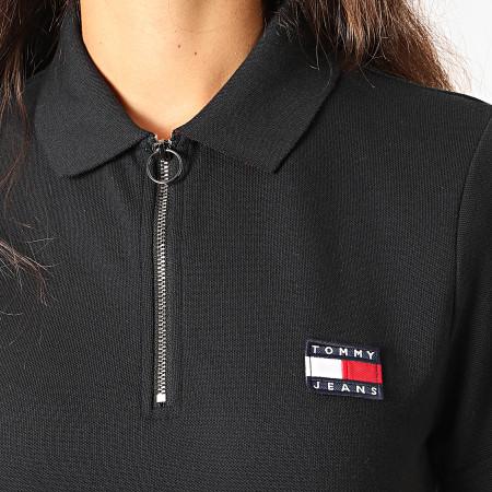 Tommy Hilfiger Jeans - Polo Femme Manches Courtes Badge 7642 Bleu Marine