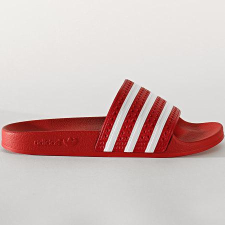 adidas - Claquettes Adilette 288193 Light Scarlet White