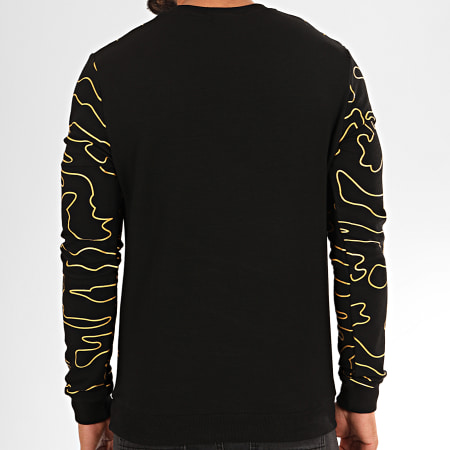 Berry Denim - Sweat Crewneck JB18097 Noir Doré