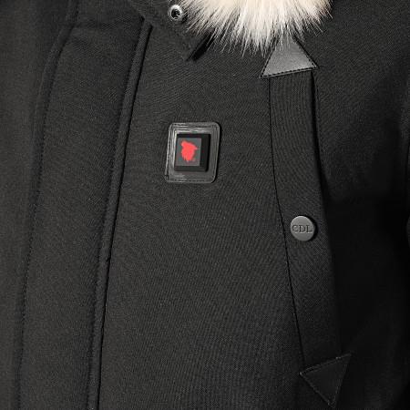 Comme Des Loups - Blouson Fourrure Chauffant Chicago Noir