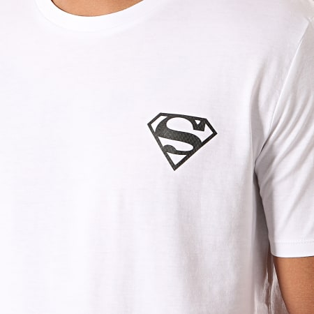 Superman - Tee Shirt Logo Recto Verso Blanc