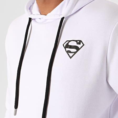 Superman - Sweat Capuche Logo Recto Verso Blanc