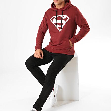 Superman - Sweat Capuche Big Logo Bordeaux
