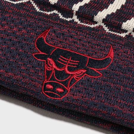 New Era - Bonnet Engineered Fit Cuff 12134786 Chicago Bulls Rose Bleu Marine Chiné