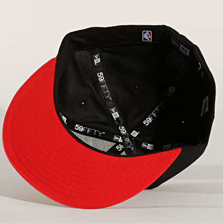 New Era - Casquette Fitted 59Fifty NBA Crown 12134804 Chicago Bulls Noir Rouge