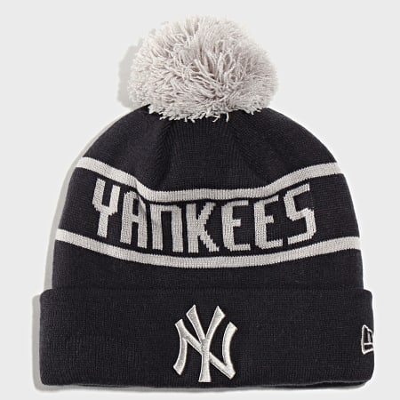 New Era - Bonnet Bobble Knit New York Yankees 12134847 Bleu Marine Gris