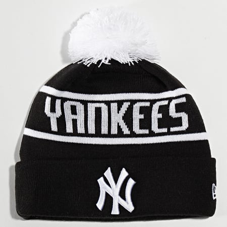 New Era - Bonnet OTC Bobble Knit 12134848 New York Yankees Noir Blanc