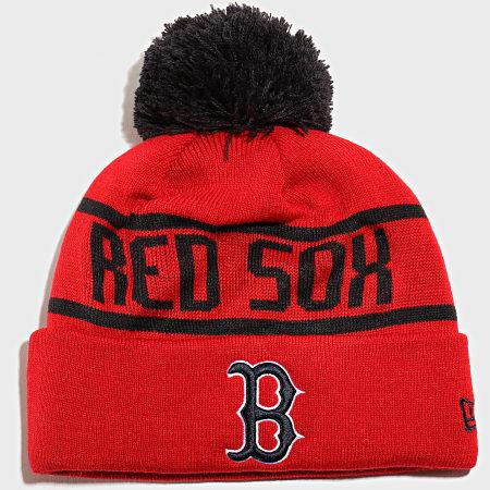 New Era - Bonnet OTC Bobble Knit 12134852 Boston Red Sox Rouge Bleu Marine