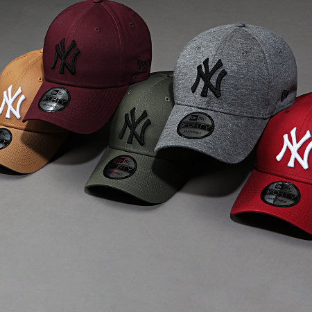 New Era - Casquette Baseball 9Forty League Essential New York Yankees 12134890 Camel Blanc