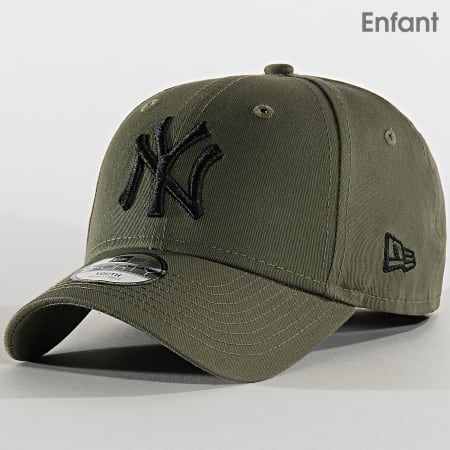 New Era - Casquette Enfant 9Forty League Essential 12145454 New York Yankees Vert Kaki