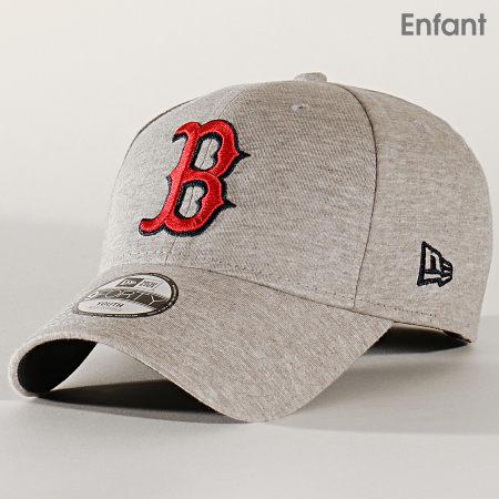 New Era - Casquette Enfant 9Forty Estl Jersey 12145478 Boston Red Sox Gris Chiné