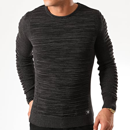 Paname Brothers Pull PNM 011 Gris Anthracite Chiné