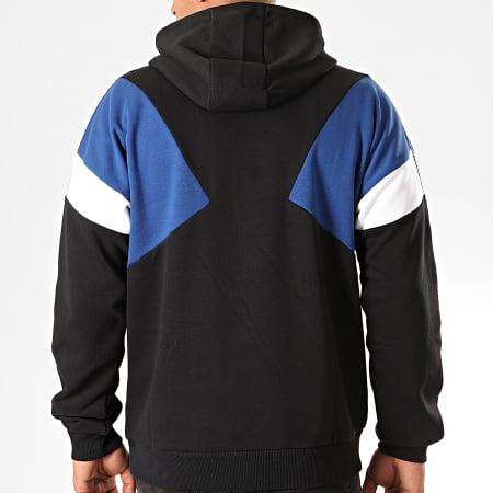 Fila - Sweat Capuche Tricolore A Bandes Umar 687354 Noir Bleu Blanc