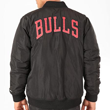 New Era - Veste Bomber NBA Team Logo Chicago Bulls Noir Rouge