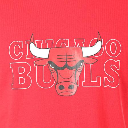New Era - Tee Shirt NBA Graphic Chicago Bulls Rouge
