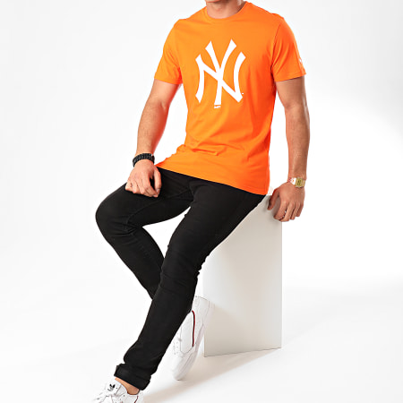 New Era - Tee Shirt MLB Seasonal Team Logo New York Yankees 12123932 Orange