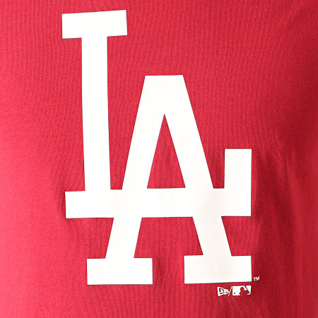 New Era - Tee Shirt MLB Seasonal Team Logo Los Angeles Dodgers 12123935 Bordeaux