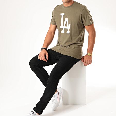 New Era - Tee Shirt MLB Seasonal Team Logo Los Angeles Dodgers 12123936 Vert Kaki