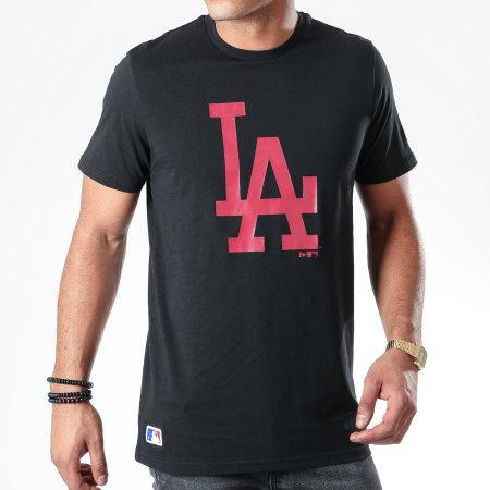 New Era - Tee Shirt MLB Seasonal Team Logo Los Angeles Dodgers 12123939 Noir