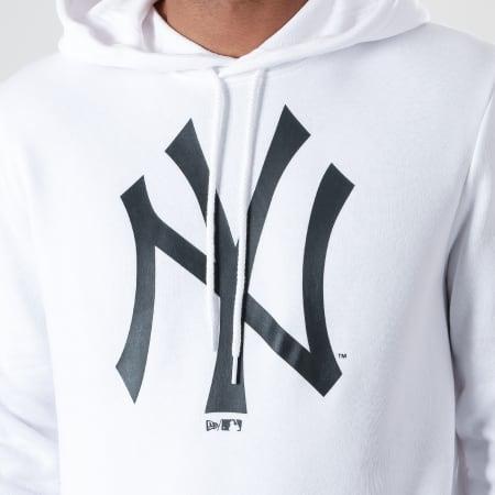 New Era - Sweat Capuche MLB Seasonal Team Logo New York Yankees 12123939 Blanc