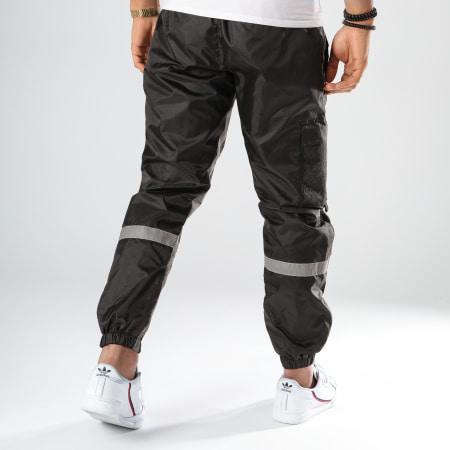 Tealer - Pantalon Jogging Réfléchissant Burning Noir Gris