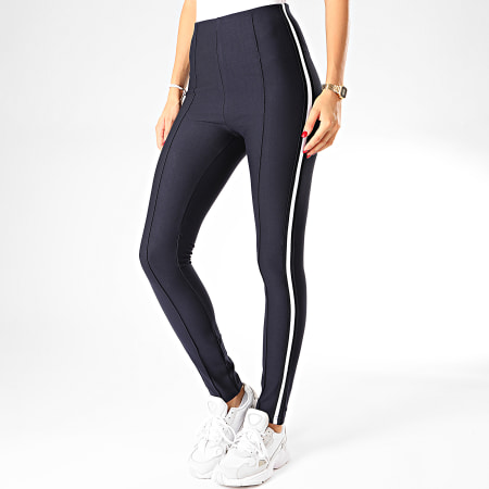 Tiffosi - Legging Femme A Bandes Clearly 2 Bleu Marine