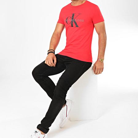 Calvin Klein - Tee Shirt Monogram Logo 4551 Rouge
