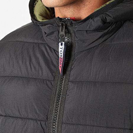 Tommy Hilfiger Jeans - Doudoune Capuche Essential Padded 7365 Noir