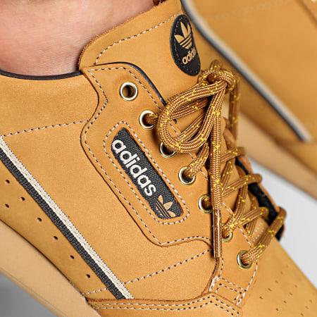 adidas - Baskets Continental 80 EG3098 Mesa Nubuck Brown EQT Yellow