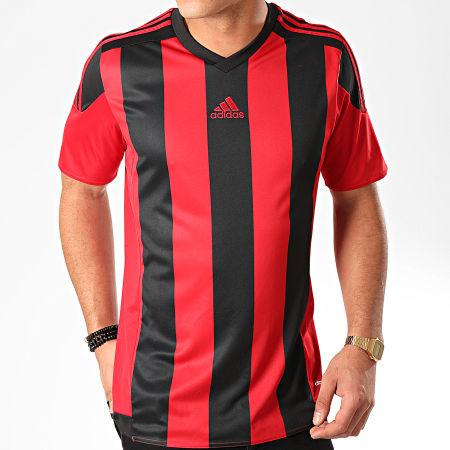 adidas - Tee Shirt A Bandes Striped 15 AA3726 Rouge Noir