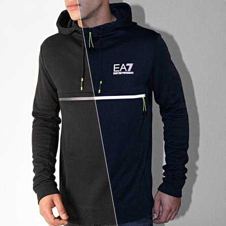 EA7 - Sweat Capuche 6GPM43-PJJ5Z Noir Réfléchissant