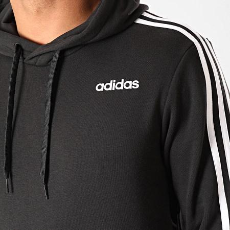 adidas - Sweat Capuche A Bandes Essential 3 Stripes DU0498 Noir