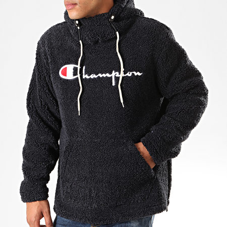 Champion - Sweat Capuche Fourrure 213681 Bleu Marine -  LaBoutiqueOfficielle.com