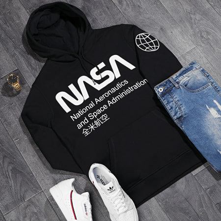 NASA - Sweat Capuche Glow In The Dark Noir