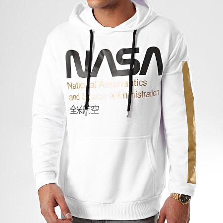 NASA - Sweat Capuche Admin Gold Blanc