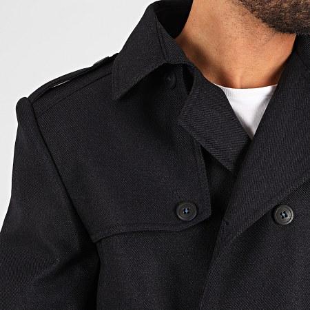 Black Needle - Manteau Trench Coat 7002 Bleu Marine