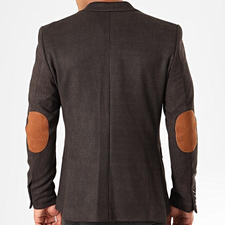 Black Needle - Veste De Costume Suédine 20244 Noir