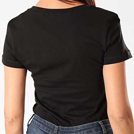 Calvin Klein - Tee Shirt Femme CK Embroidery 2883 Noir