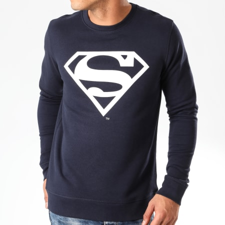 Superman - Sweat Crewneck Logo Bleu Marine