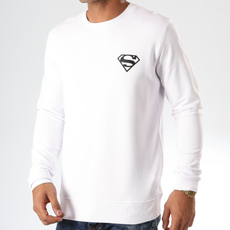 Superman - Sweat Crewneck Logo Recto Verso Blanc