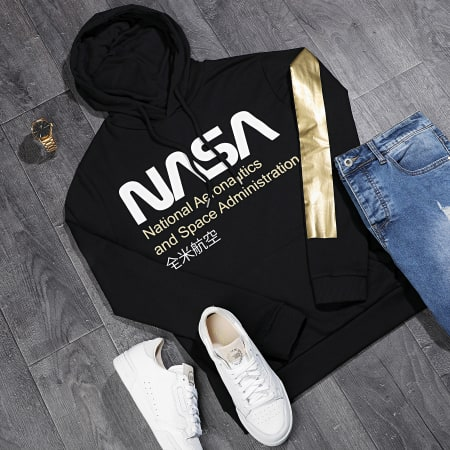 NASA - Sweat Capuche Admin Gold Noir