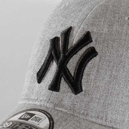 New Era - Casquette Fitted 39Thirty Heather Estl 12134987 New York Yankees Gris Chiné