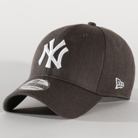 New Era - Casquette Fitted 39Thirty Heather Estl 12134988 New York Yankees Gris Anthracite Chiné