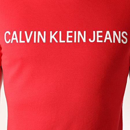 Calvin Klein - Tee Shirt Institutional Logo 7856 Rouge Blanc