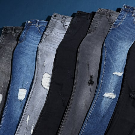 LBO - Jean Skinny Avec Déchirures 72215-B07 Noir