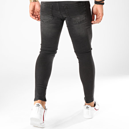 Classic Series - Jean Skinny Destroy GF-79006 Gris Anthracite