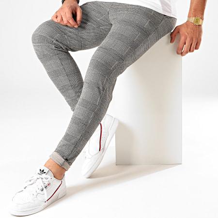 Frilivin - Pantalon A Carreaux 1660 Noir Blanc