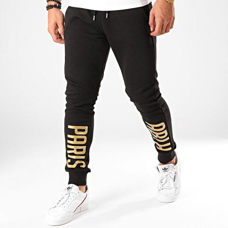 OhMonDieuSalva - Pantalon Jogging ABLH Noir Doré