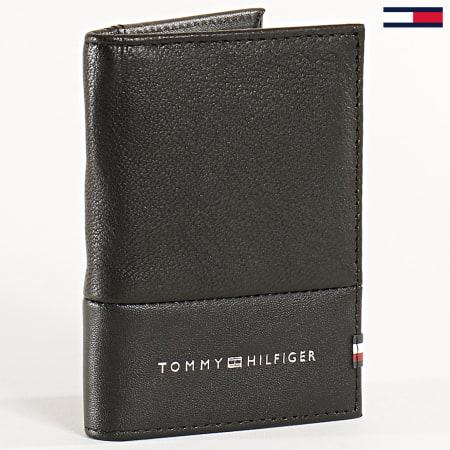 Tommy Hilfiger - Porte Cartes Cuir Textured Bifold 5650 Noir